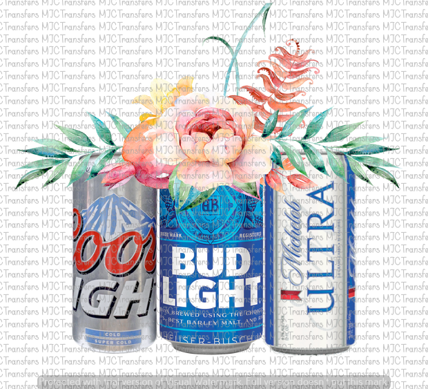 Beer cans with flowers (sublimation) Beer, Beer shirts