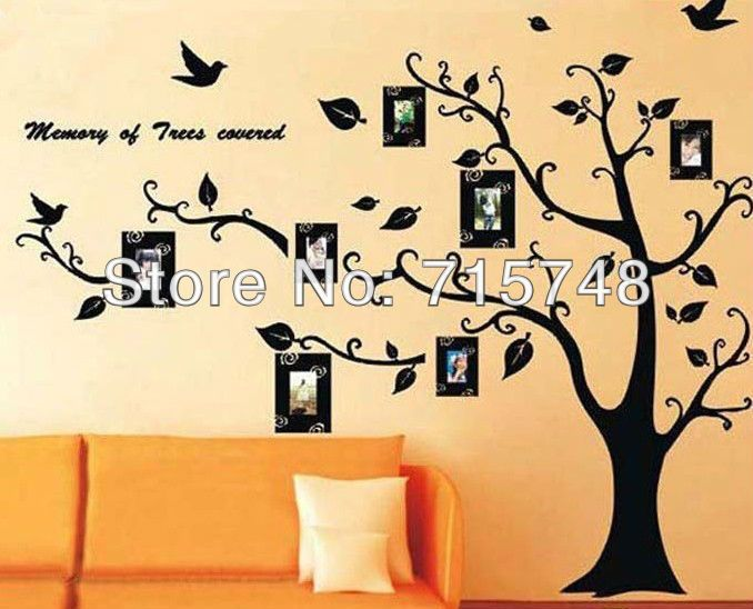 Free shipping ONLY TREE Hot selling Print type 3D sticker DIY ...
