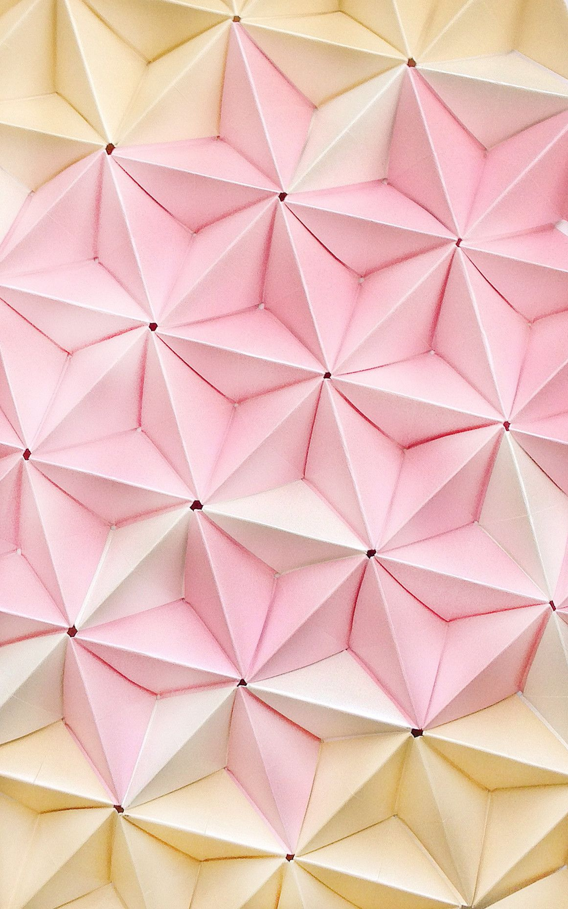 Origami In Pastel Casetify Iphone Art Design Cool Wallpaper Illustration Pastel Pink Cool Wallpaper Pink