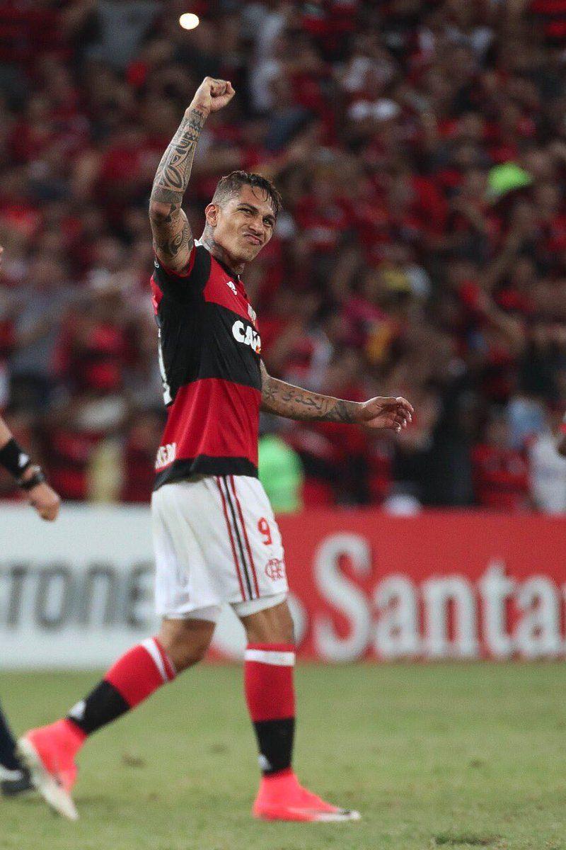 44bc43f98eb2d Paolo Guerrero marcou o gol 200 do Flamengo em participações na Conmebol  Libertadores Bridgestone. Uma vez Flamengo