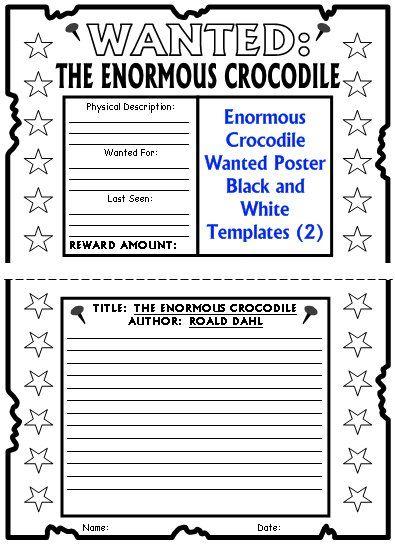 Enormous crocodile lesson plans author roald dahl crocodile dahl enormous crocodile roald dahl wanted poster project templates saigontimesfo