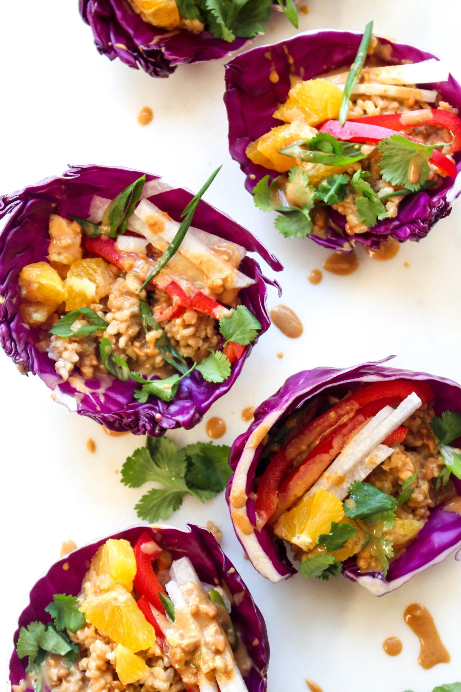 This Thai wrap recipe is bursting with healthy flavor! A great lunch or dinner idea!