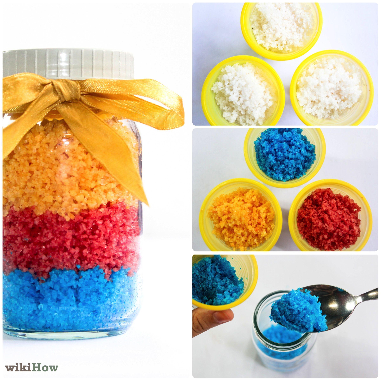 how to make fake sand with salt