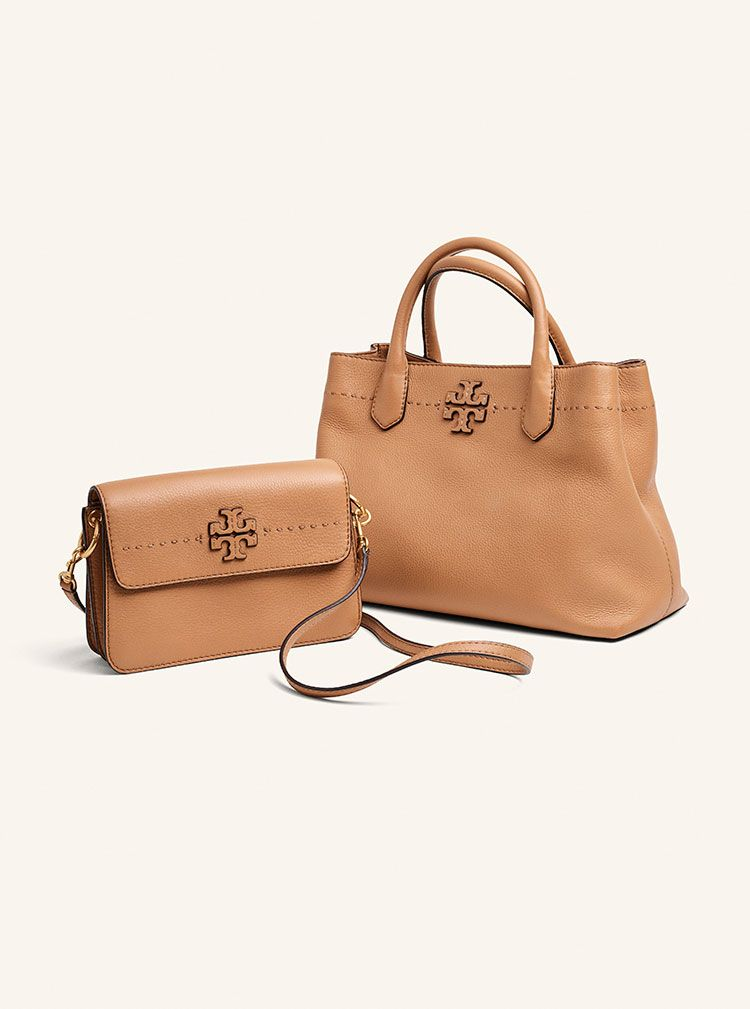 Tory Burch Mcgraw Collection Leather Tote Handbags Bag Totes Purse