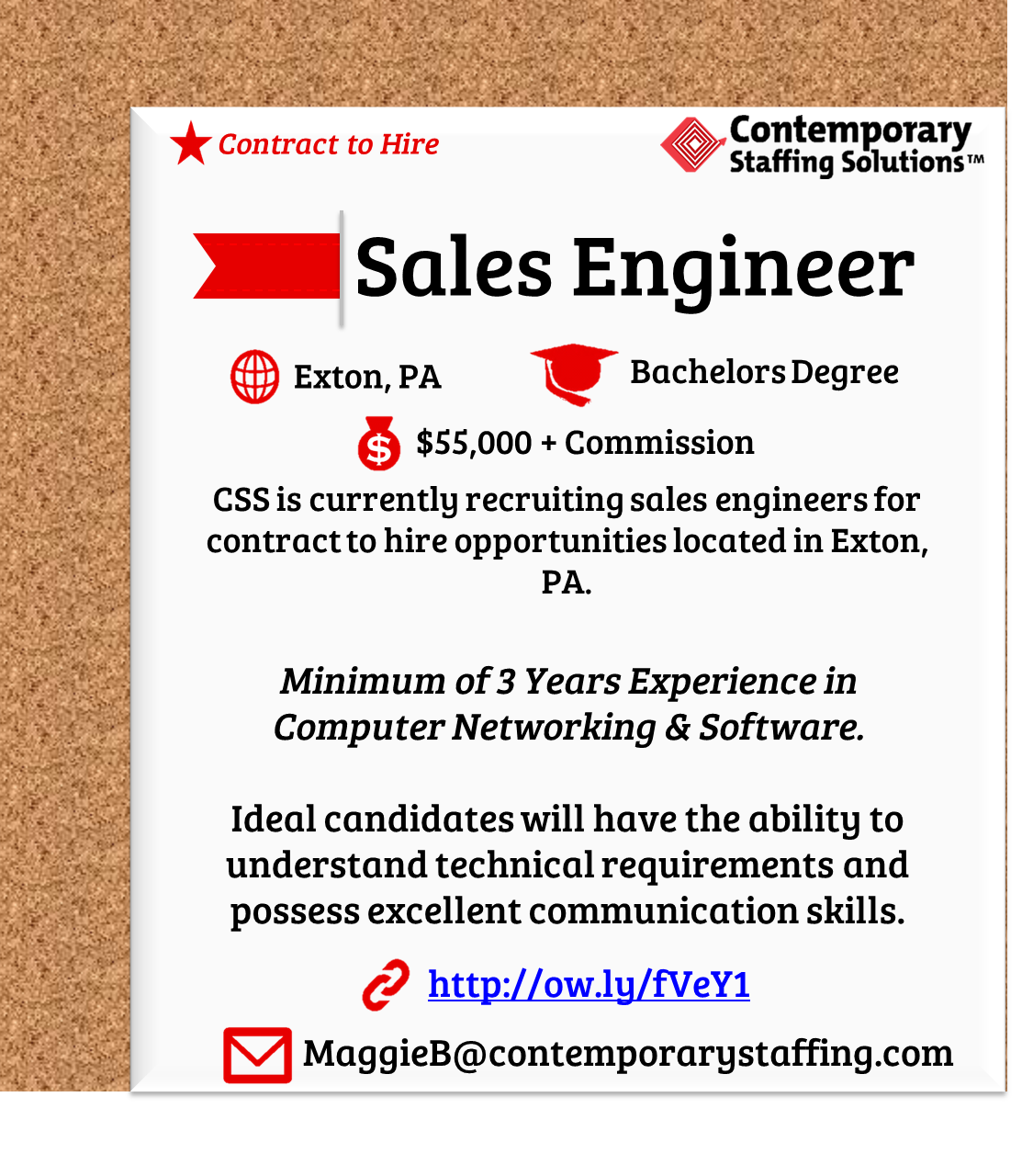 css is  hiring sales engineers in exton  pa