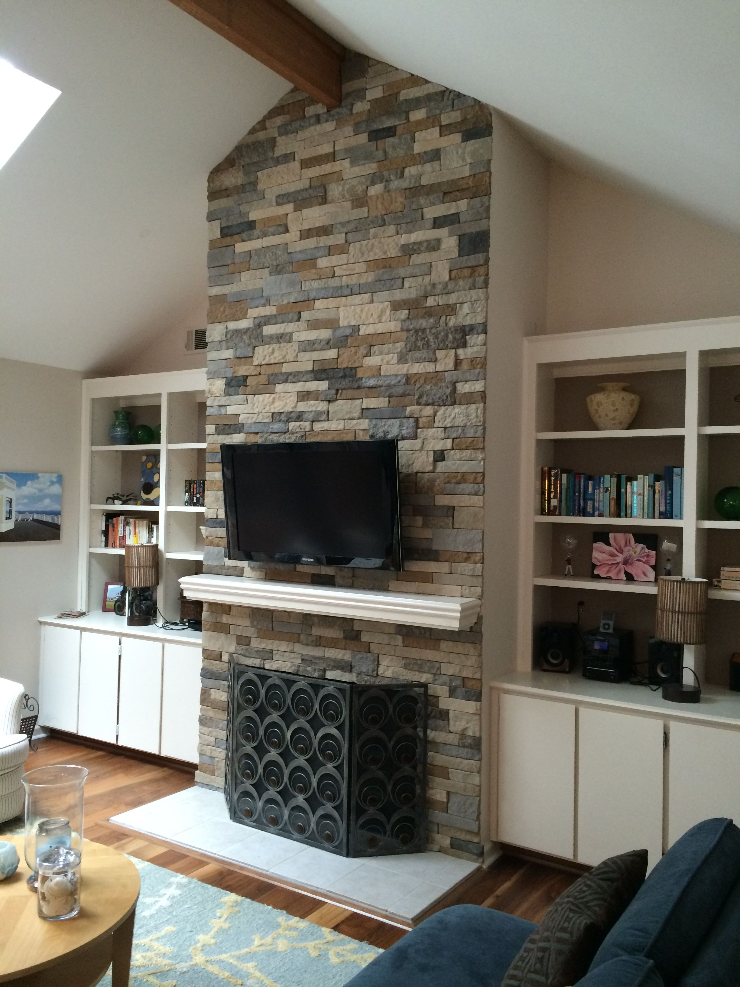 Updated Fireplace using Airstone Airstone fireplace