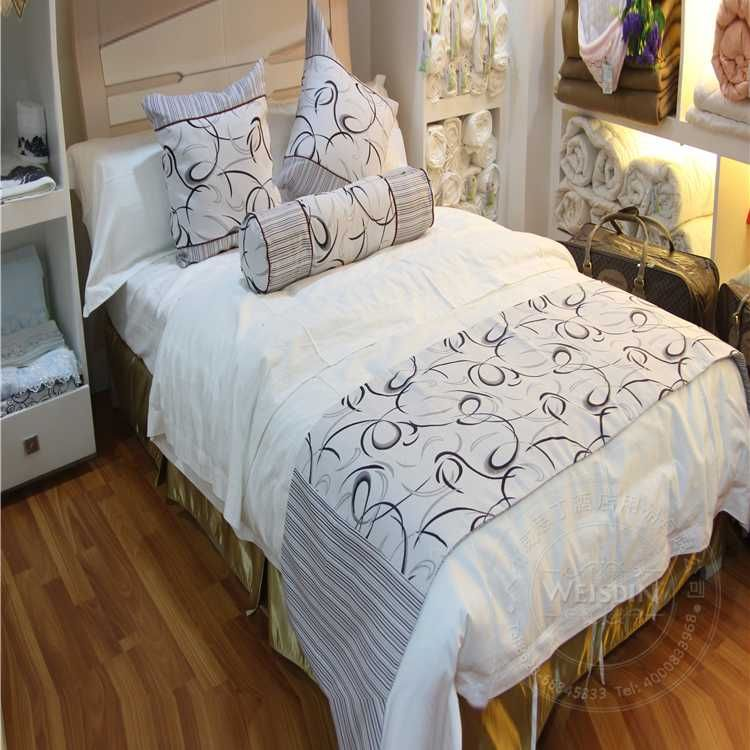 luxury hotel sheets bedding sets top grade runner bedspread