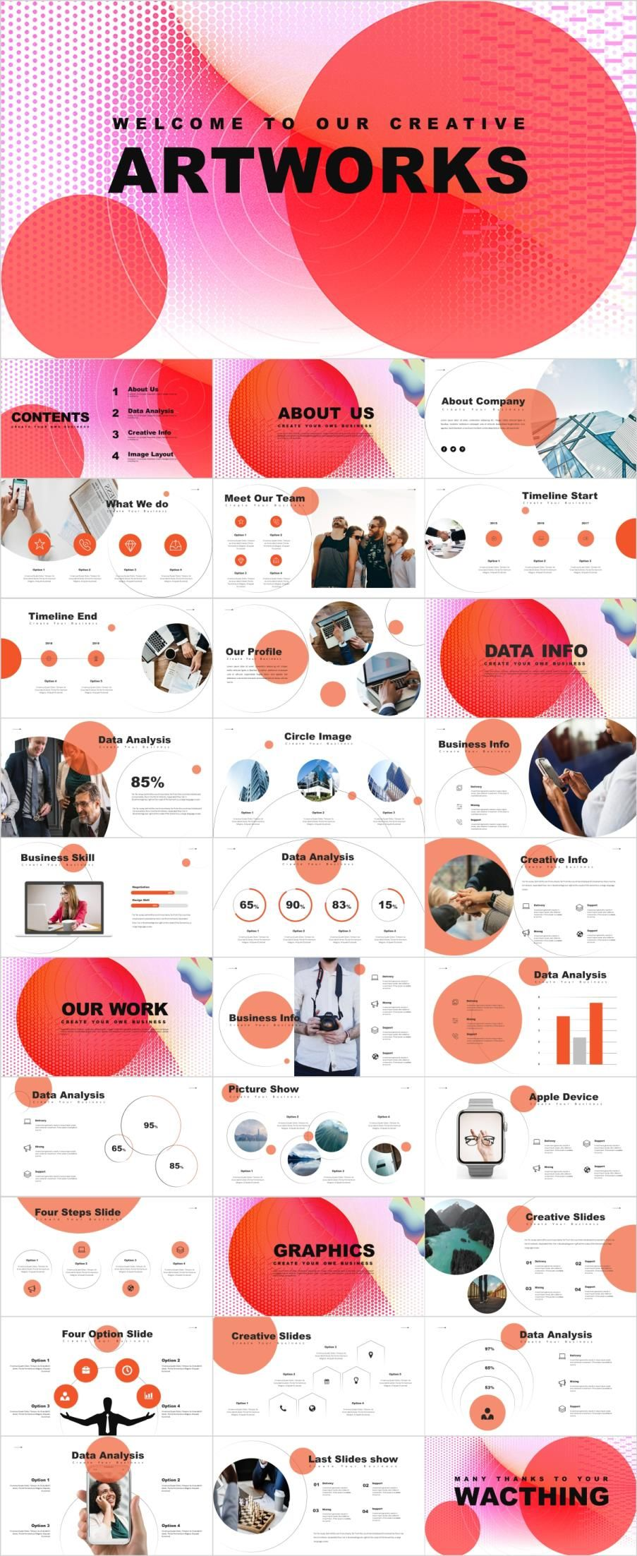 30 Market Analysis PowerPoint Template Powerpoint Templates Presentation Animation Backgrounds Pptwork Annual Report Business Company Design