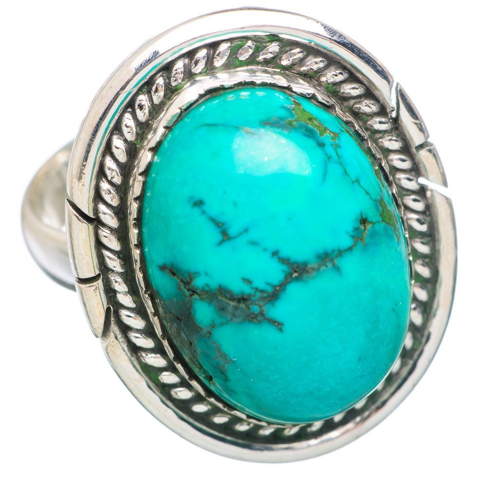 Tibetan Turquoise 925 Sterling Silver Ring Size 7 RING737284