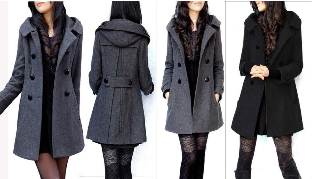 Women's Long Pea Coat | Gommap Blog