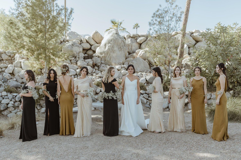 Black Tan And Gold Tan Wedding Wedding Dresses Black Bridesmaid Dresses [ 1000 x 1500 Pixel ]