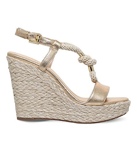 6f0266c48d12 MICHAEL MICHAEL KORS Holly Wedge Leather And Rope Sandals.   michaelmichaelkors  shoes  sandals
