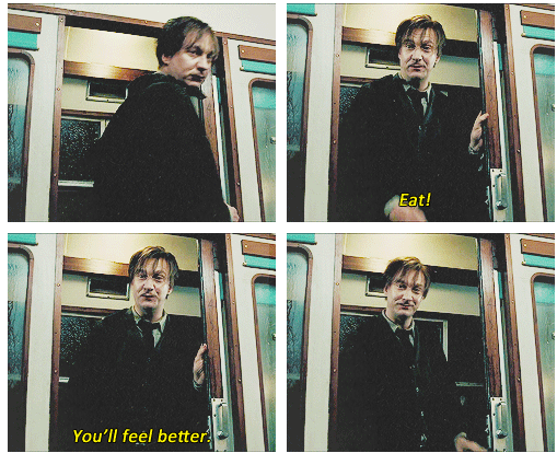 Life advice from Remus Lupin. I totally agree. Chocolate is a GREAT cure for many things!!!