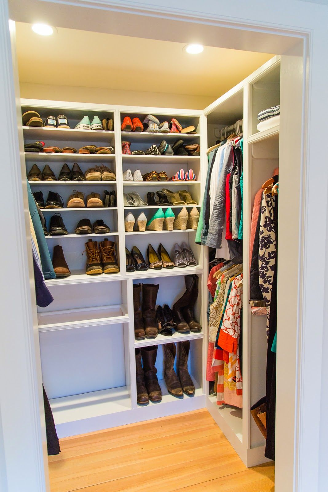 fc9c9d871488e Custom Closet built in a mini-walk-in closet complete with hanging ...