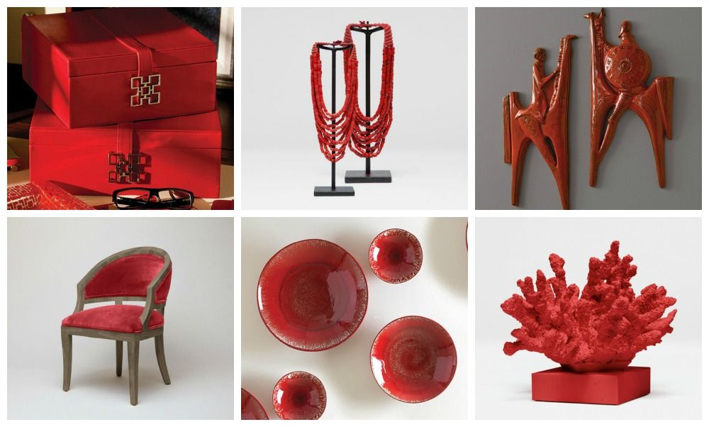 Red Decor Accents