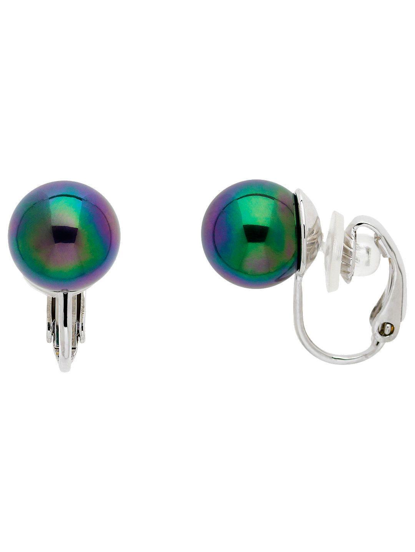 Finesse Faux Pearl Clip On Earrings Purple Online At Johnlewis