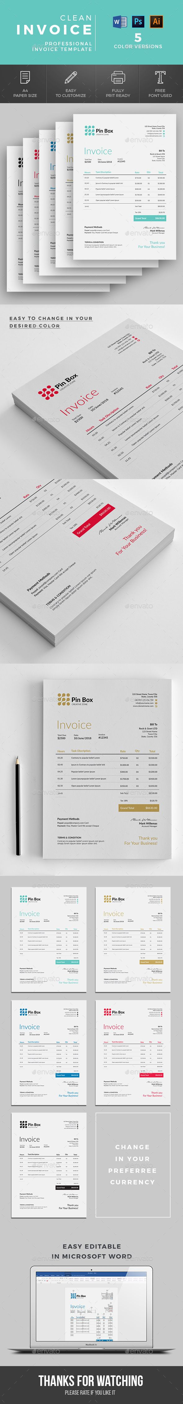 Ms Word Proposal Template Invoice  Pinterest  Template Proposal Templates And Typography Design
