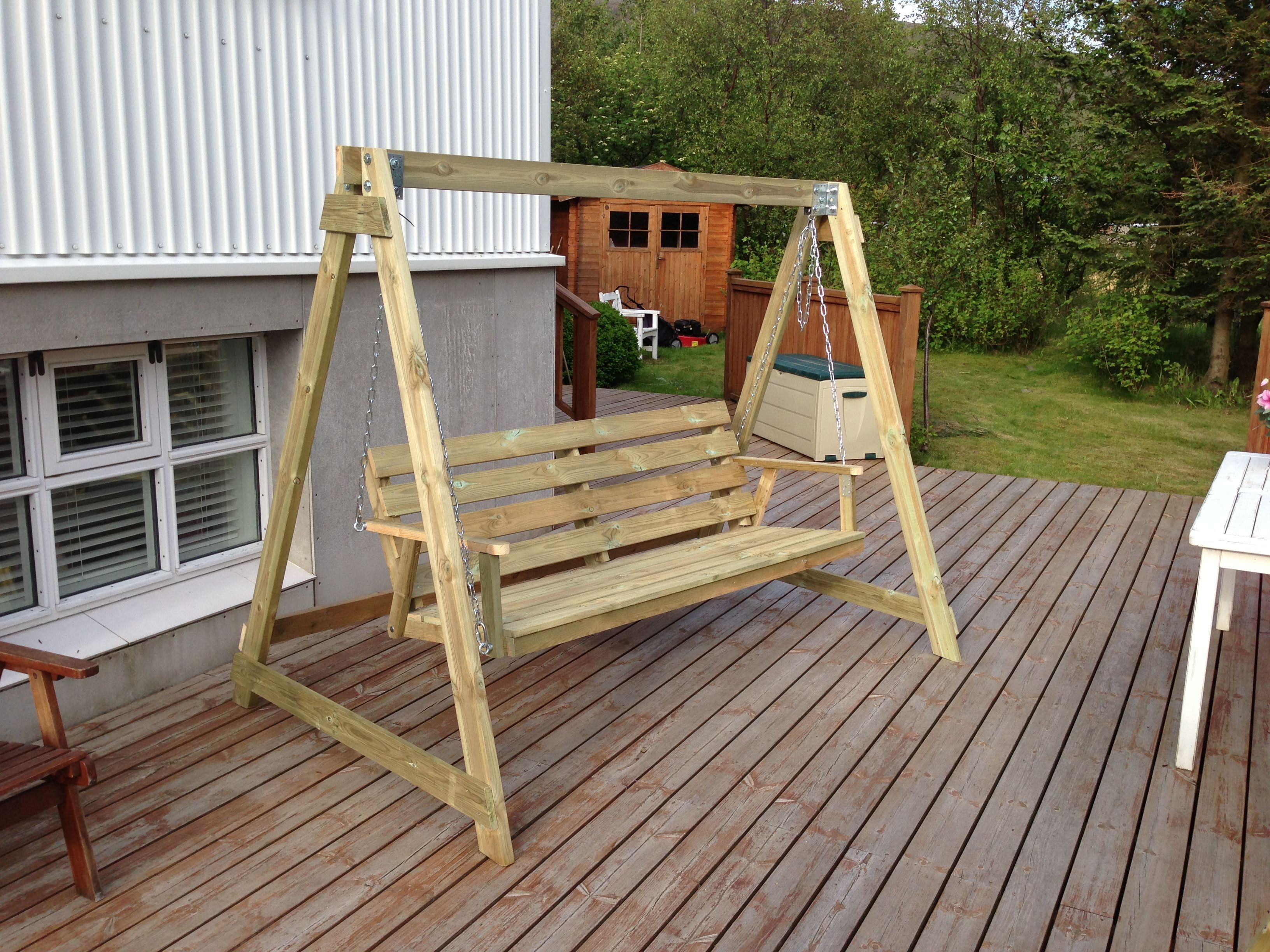 diy wood freestanding outdoor swing plans google search