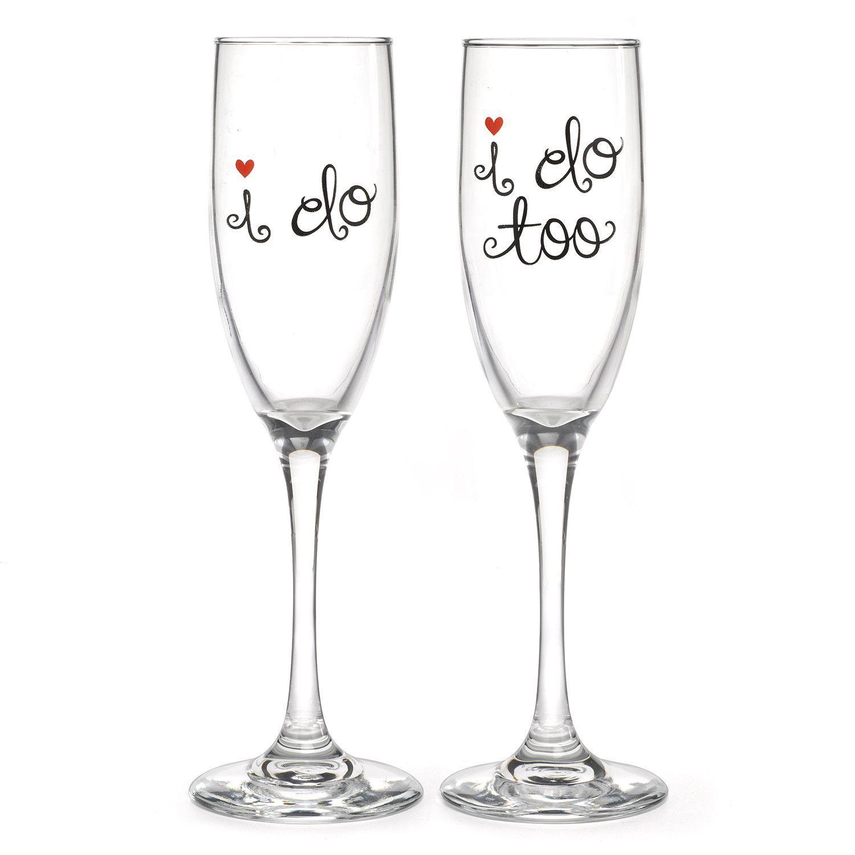 I Do (Too) Wedding Toasting Flutes | Wedding toasting flutes, Flutes ...