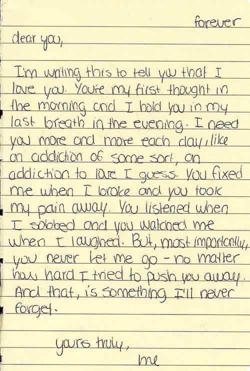 love letter | love letter about being there for someone. Sweet