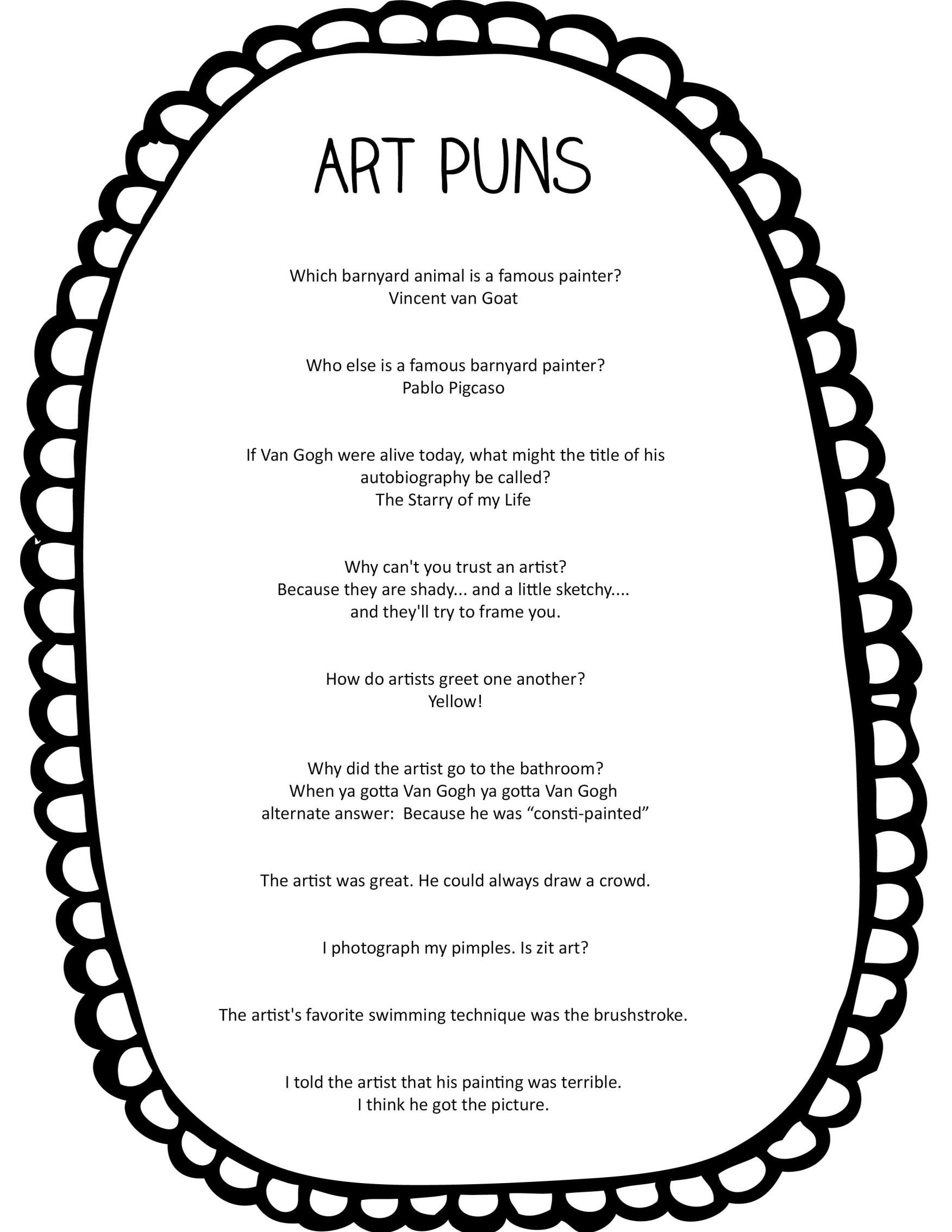 Fun Puns About Art And Artists