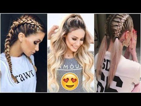 Peinados Faciles Y Rapidos De Diario Para Cabello Largo Easy Hairstyles Tutorials Compil Peinados Faciles Para La Escuela Peinados Peinados Faciles Y Rapidos