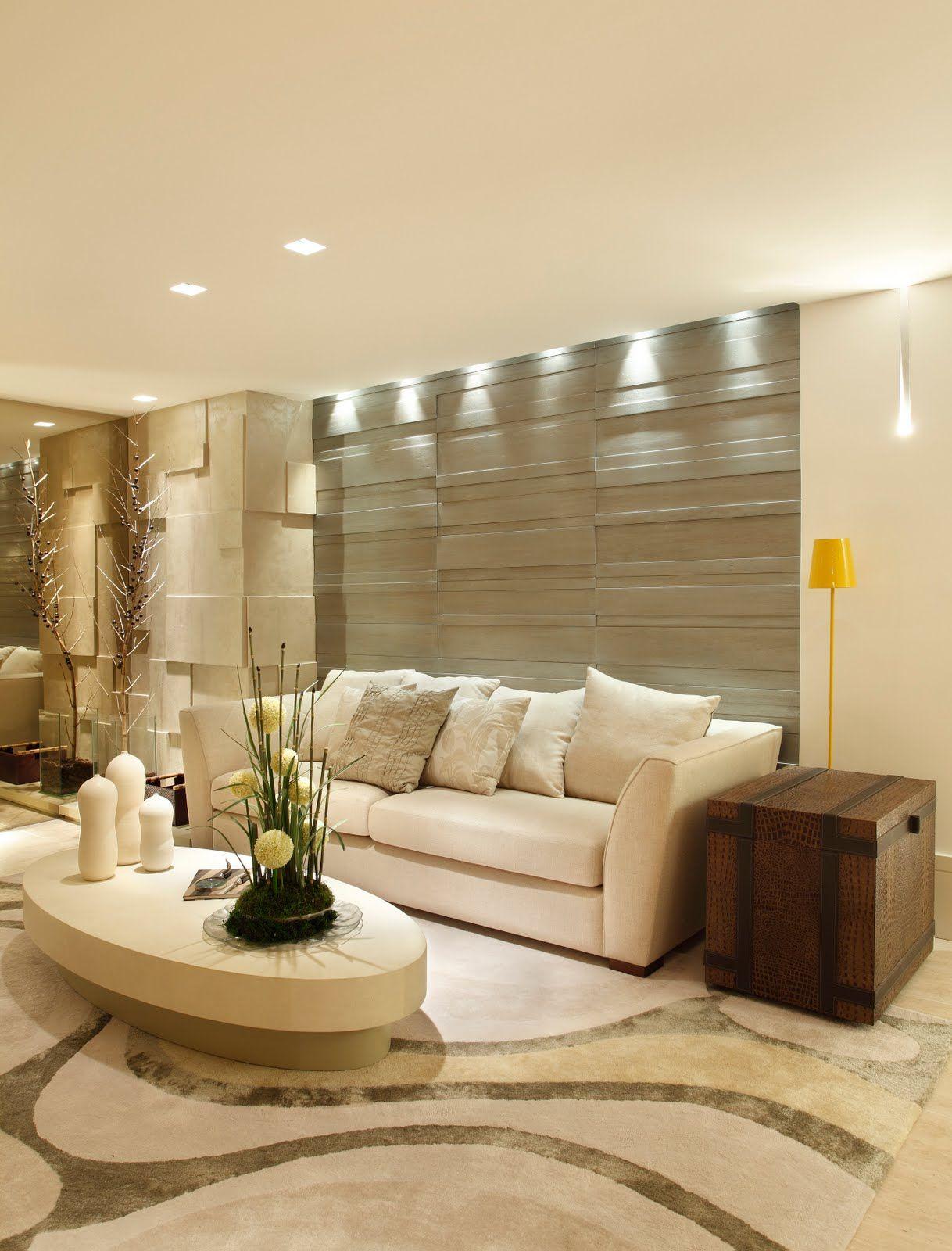 Elegant Sala Estar   Papel Parede   Iluminacao   Tapete | Diseño Salas De Star,  Comedores Y Entradas. | Pinterest | Haus Innenarchitektur, Wohnzimmer Und  Wohnzimmer ...
