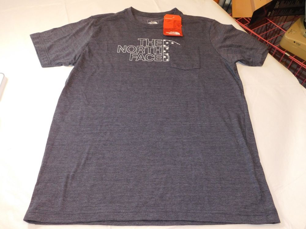 2f7c418e81d The North Face Mens Americana Pocket TEE t shirt L Slim Fit Urban Navy  Heather*^ #TheNorthFace #tshirt
