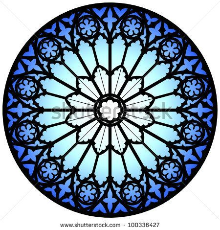 Gothic Rose Window Illustration