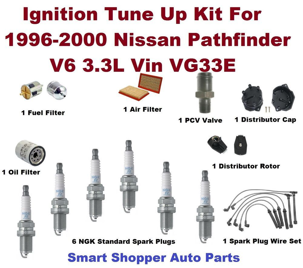 pcv valve spark plug wire set oil filter ignition tune up for 96 00 pathfinder aftermarketproducts [ 1000 x 887 Pixel ]