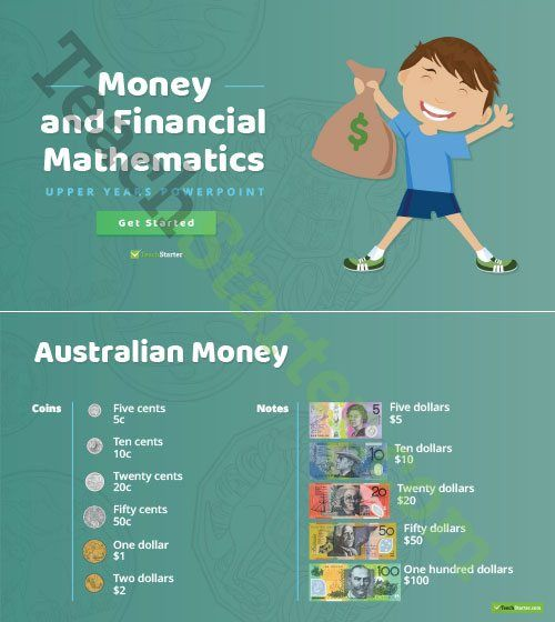Money and Financial Mathematics – Upper Years Interactive PowerPoint