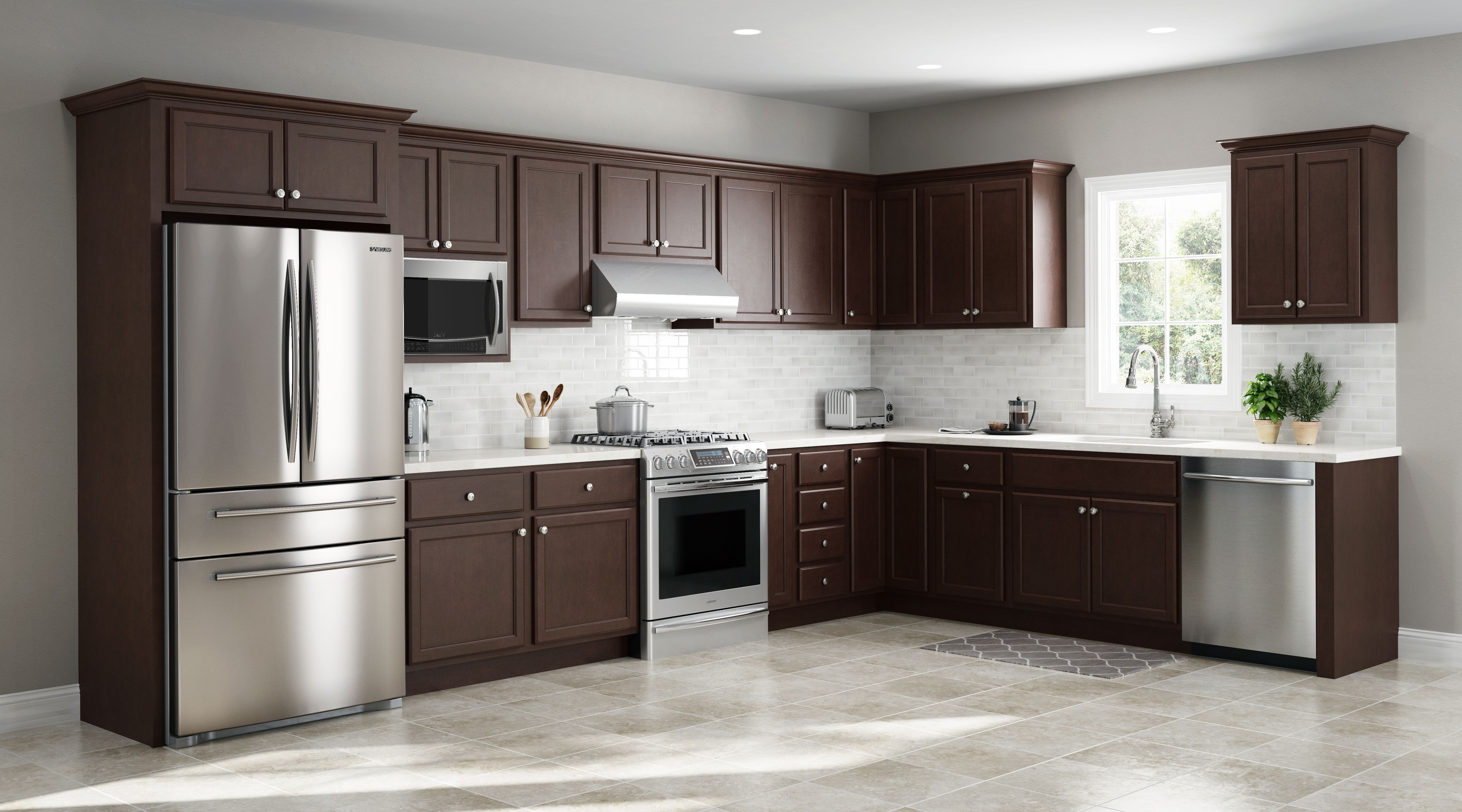 Kitchen Cabinets Kountry Cabinets Home Furnishings In 2020 Kitchen Cabinets Slate Kitchen Stained Kitchen Cabinets