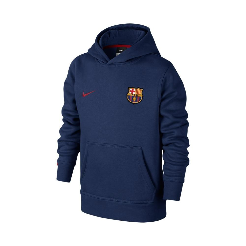 Stefans Soccer - Wisconsin - Nike Youth Barcelona Core Hoodie - Loyal Blue / Storm Red