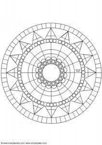 11 Mandalas Para Colorear Con Figuras Geometricas 9 Mandalas Para Colorear Mandalas Circulares Mandalas