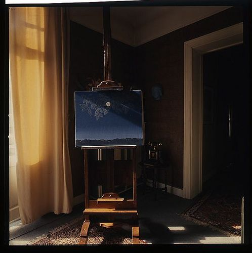 René Magritte home by Lothar Wolleh