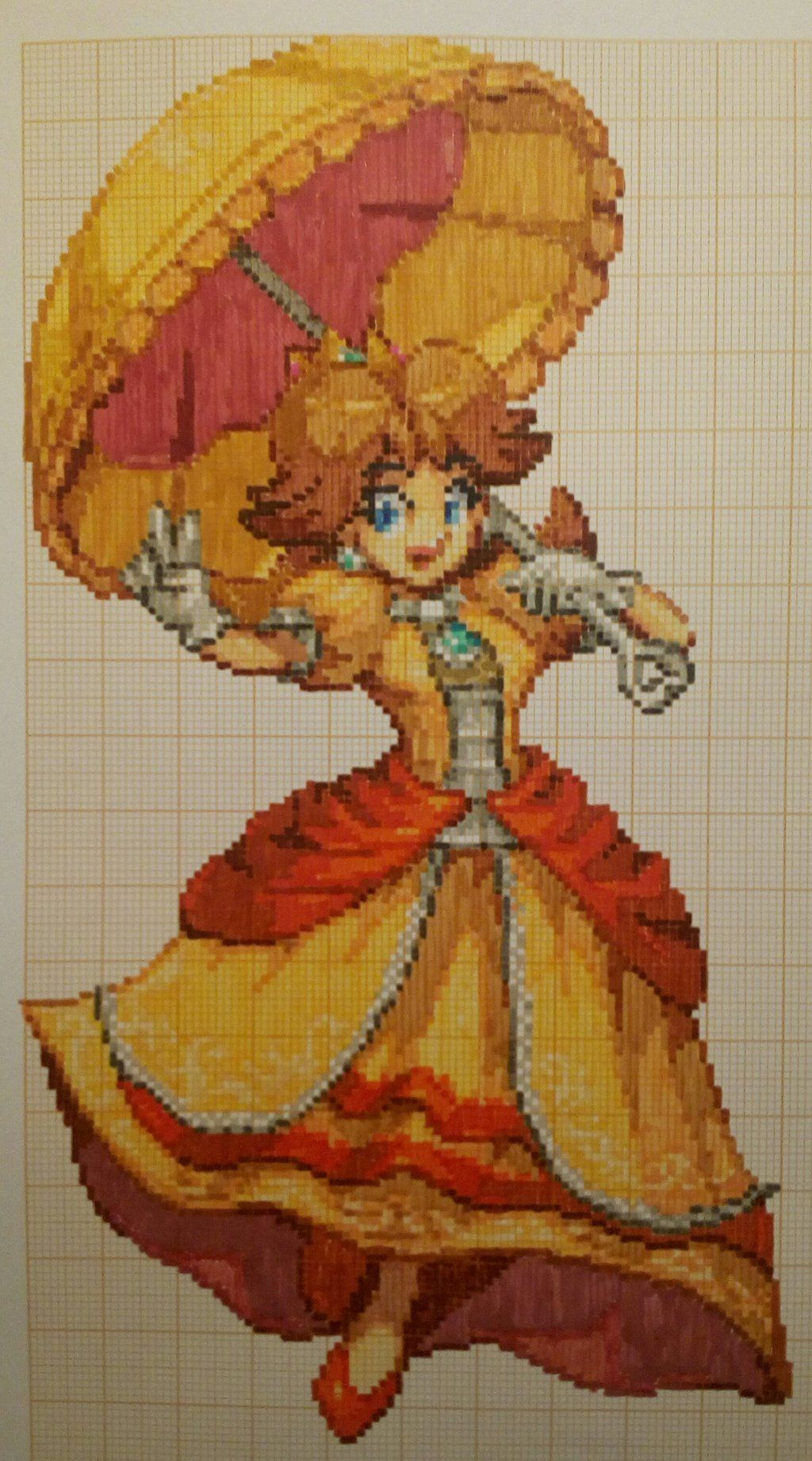 Pixel Art Super Smash Bros Daisy By Paintpixelart Pixel