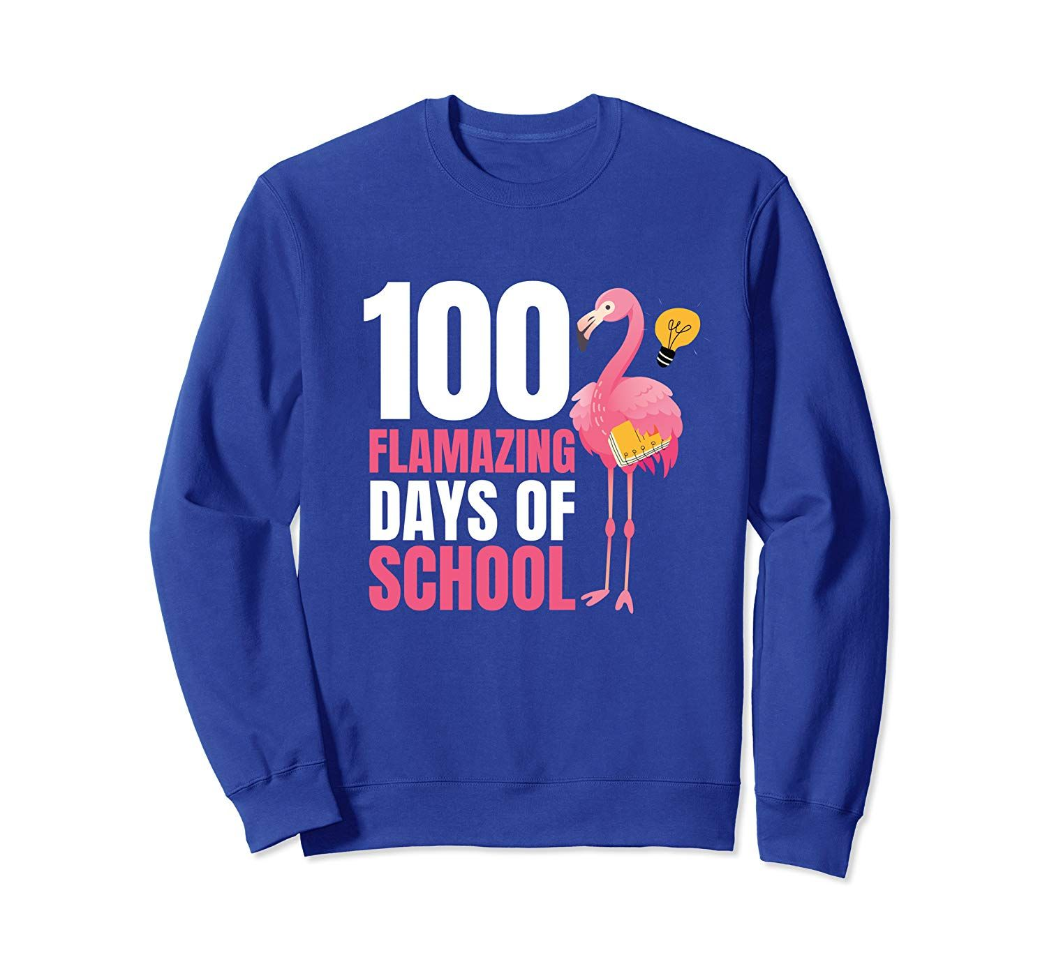 100 Flamazing Days Of School Flamingo 100th Day For Teachers Sweatshirt Yourtee Custom Tee #100thdayofschool
