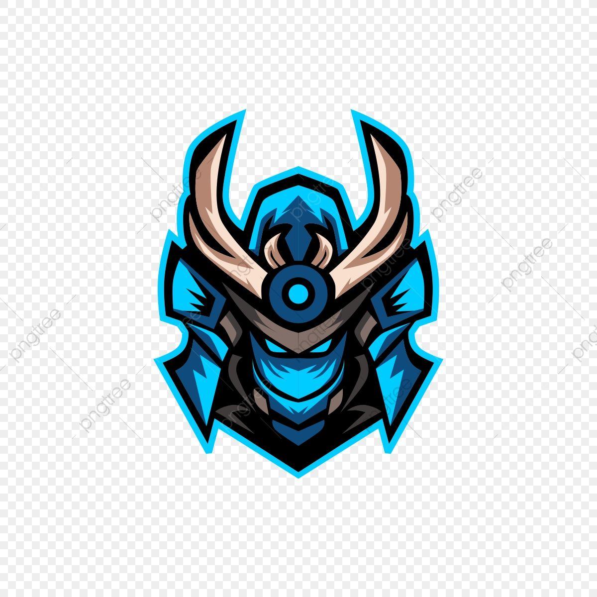 Download This Blue Samurai Head Esports Logo Free Logo Design Template Illustration Vector Masc Logo Design Free Templates Logo Design Free Game Logo Design