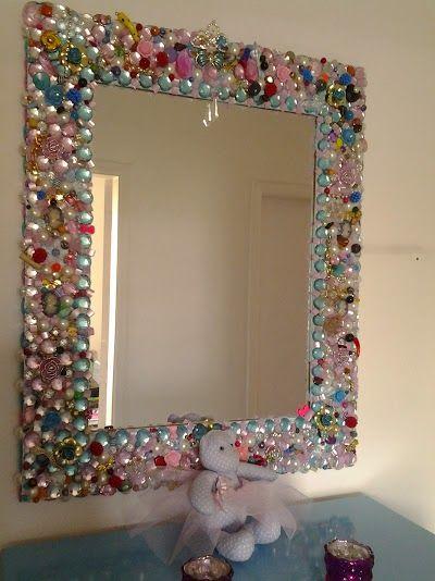 Espelho Mirror Crafts Diy Home Crafts Jewelry Mirror