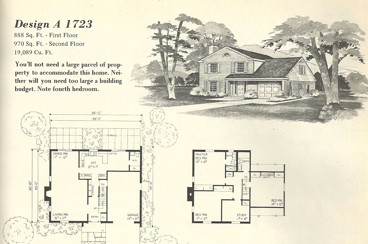 Beautiful Old Farm House Plans 12 Mid Century Modern Small House Plans House Plans With Pictures Vintage House Plans Vintage House