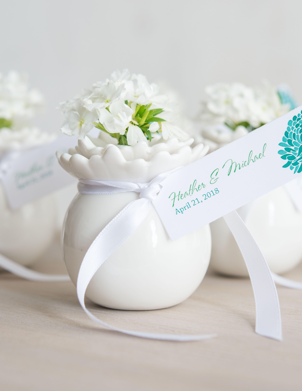 Small White Porcelain Bud Vase (4) | Ceramic flowers, Flower vases ...