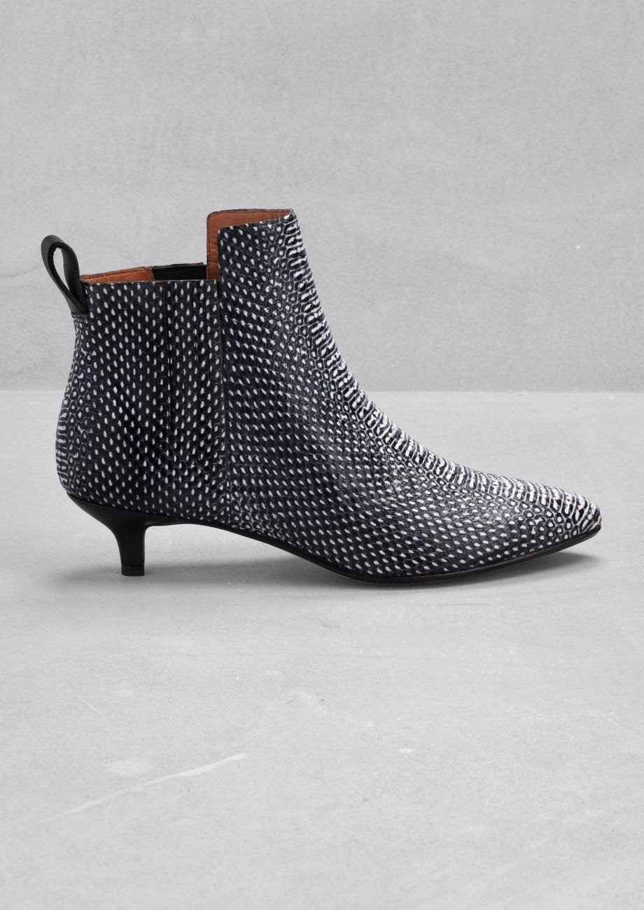 73ed5d33312fd Same boots different colour - both pairs pls. & Other Stories | Leather  kitten heel ankle boots