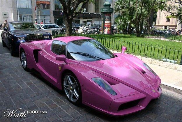 barbi pink ferrari #Lamborghini #pinkferrari