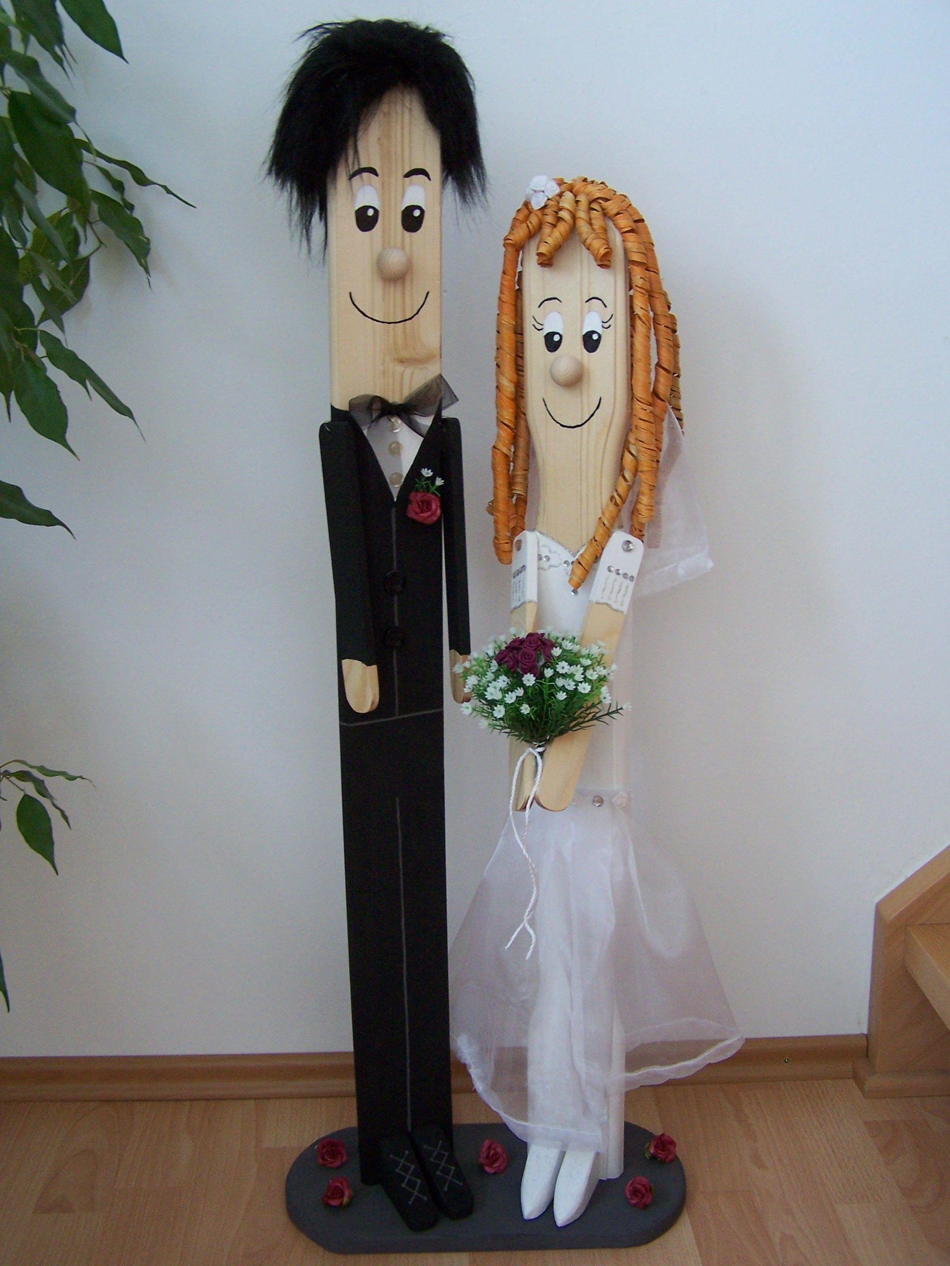 ZaunlattenBrautpaar  creadoocom  basteln  Brautpaar