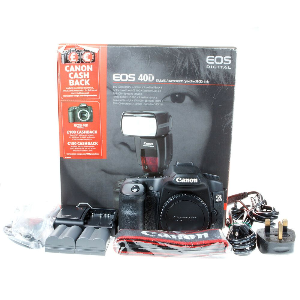 Boxed Canon Eos 40d 10 1mp Dslr Camera Body 1555 Shutter Count Near Mint Stuff To Buy Eos Cashback