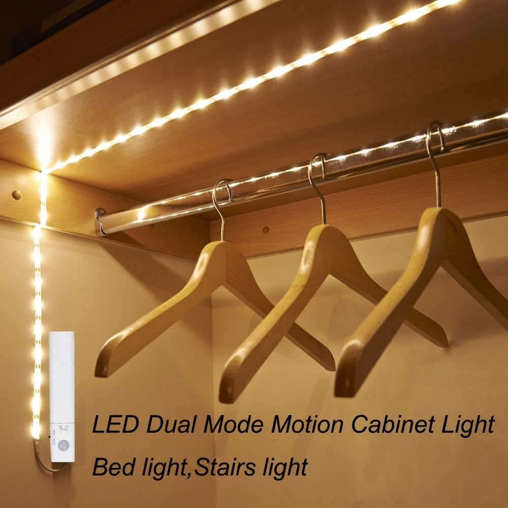 Dbf Under Cabinet Lighting Battery Operated Motion Activated Led Strip Lights Kit For Cabinet Kitchen Bat Strip Lighting Under Bed Lighting Led Strip Lighting