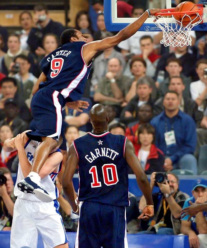 Vince Carter Team USA 2000 Olympics Dunks - YouTube