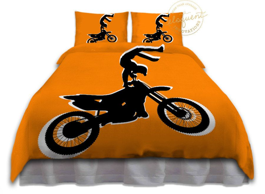 Pin By Zelda Davis On Bedroom In 2021 Duvet Bedding Sets Orange Duvet Covers Sports Bedding