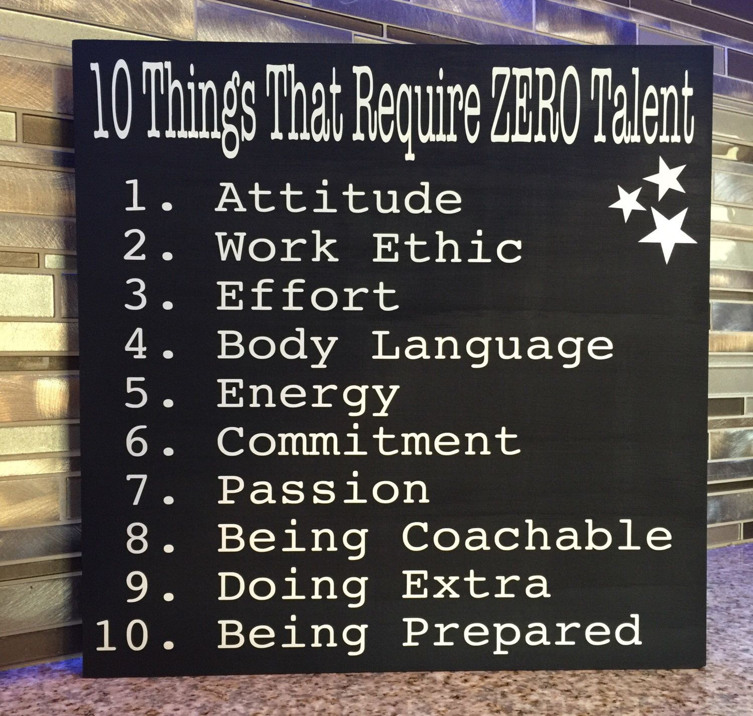 10 Things That Require Zero Talent Office Sign Teenage Gift