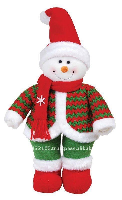14 mu eco de nieve de pie sombrero rojo adornos - Adornos navidenos tela ...